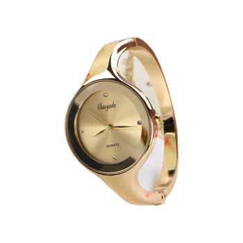 Нежен дамски часовник с кръгла форма в няколко цвята