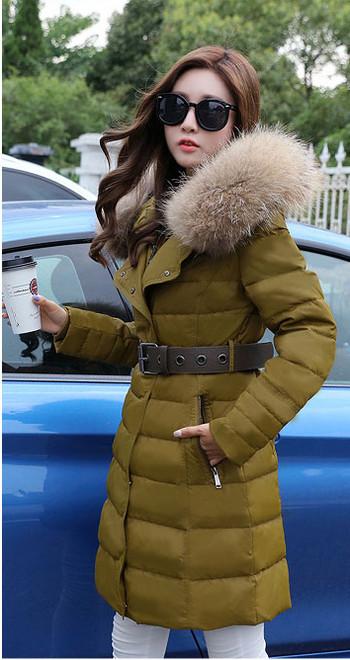 Γυναικείο μπουφάν με κουκούλα και γούνα σε δύο χρώματα