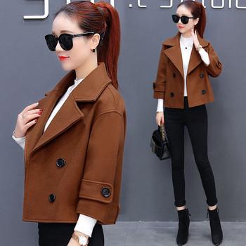 ΝΕΟ Μοντέρνο γυναικείο παλτό κοντό μοντέλο σε διάφορα χρώματα - Badu ... 3b913d594c0