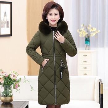 Μοντέρνο μακρύ γυναικείο μπουφάν με κουκούλα σε τέσσερα χρώματα