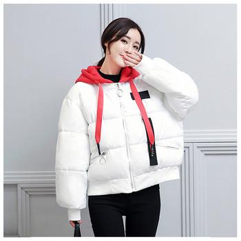 Дамско яке за зимата с качулка в четири цвята