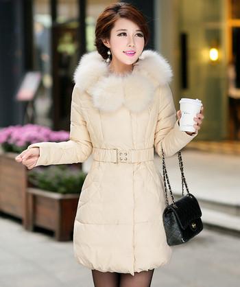 Дълго дамско яке с колан в няколко цвята
