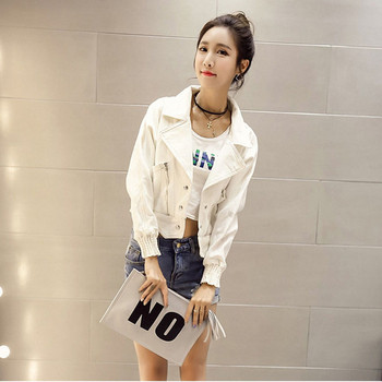 Γυναικείο  μπουφάν σε λευκό χρώμα κατάλληλο για τη καθημερινή ζωή