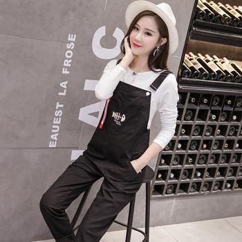 Дамски модерен гащеризон в черен цвят