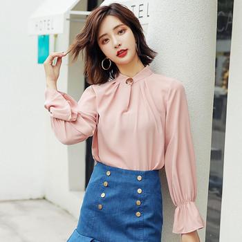 Дамска модерна риза с дълъг ръкав в няколко цвята
