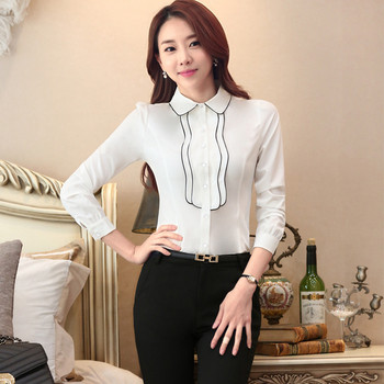Есенна дамска риза с дълъг ръкав в няколко цвята