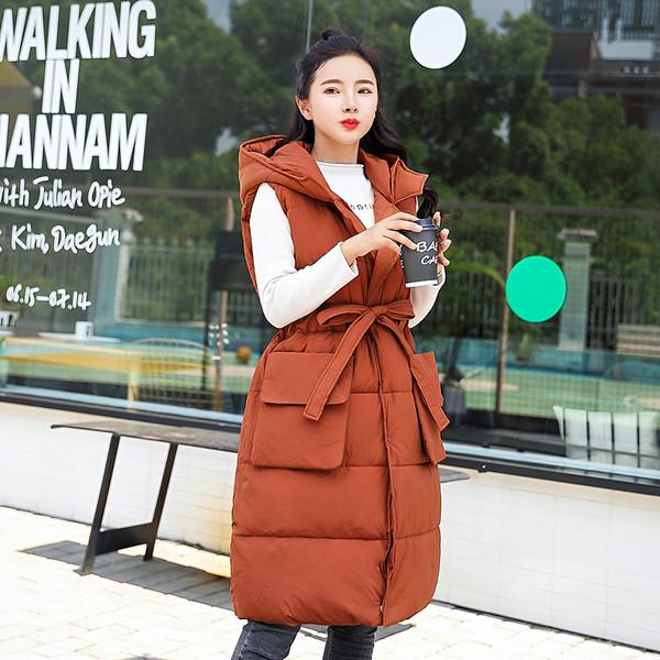 10f8666b09b ХИТ Стилен дамски елек разкроен модел с джобове и качулка в няколко цвята -  Badu.bg - Светът в ръцете ти