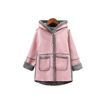 Νέο μοντέλο παιδικό παλτό για κορίτσια με μαλακή επένδυση σε δύο χρώματα b263cbf1df0