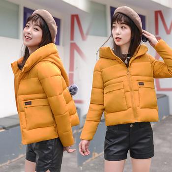 Μοντέρνο  γυναικέιο μπουφάν  με κουκούλα σε πέντε χρώματα