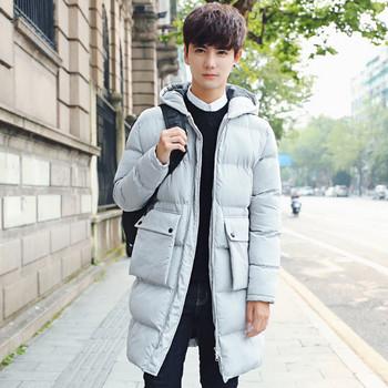 Мъжко яке дълъг модел с джобове в два цвята