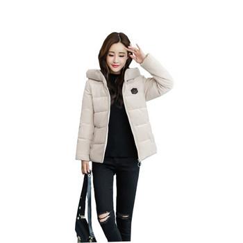 Стилно дамско яке с качулка в пет цвята
