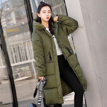 Дълго зимно яке за жени в няколко цвята