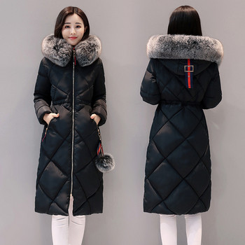 Γυναικείο μπουφάν με  γούνα σε τρία χρώματα