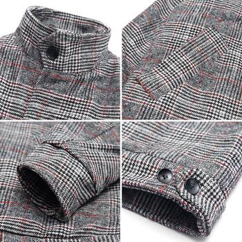 Късо мъжко палто в два цвята - широк модел