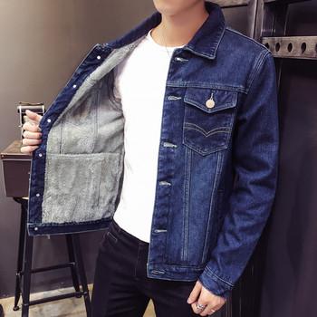 Плътно мъжко дънково яке с мека подплата в няколко модела