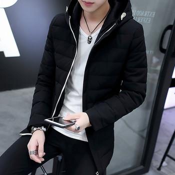 Мъжко плътно яке с качулка в четири цвята