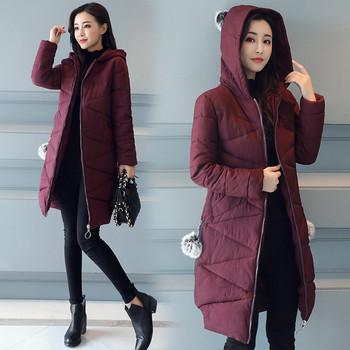 Καθημερινό γυναικείο μπουφάν με έξι χρώματα με κουκούλα με γούνα