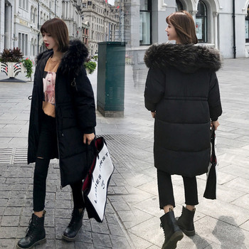 Μακρύ χειμωνιάτικο γυναικέιο παλτό σε πέντε χρώματα