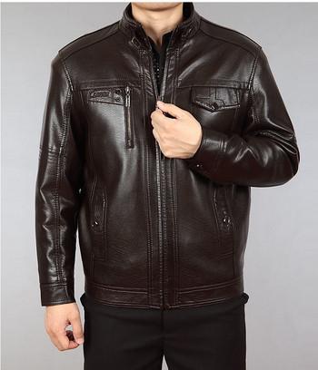 Мъжко модерно яке от еко кожа в два цвята