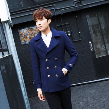 Късо стилно мъжко палто в три цвята