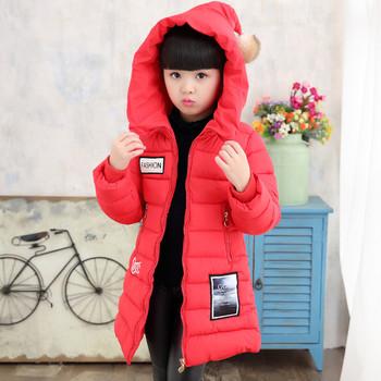 Νεο μοντέλο χειμερινό παιδικό μπουφάν για κορίτσια σε τρία χρώματα με  εφαρμογή 46e38750819