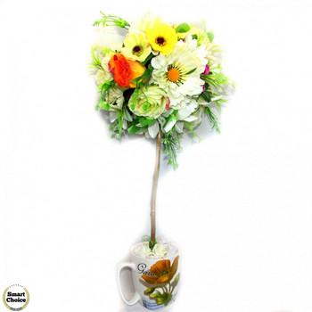Сувенир - Цветно дърво - топиар \'Лятно настроение\' - 50 см. Модел DM-9024