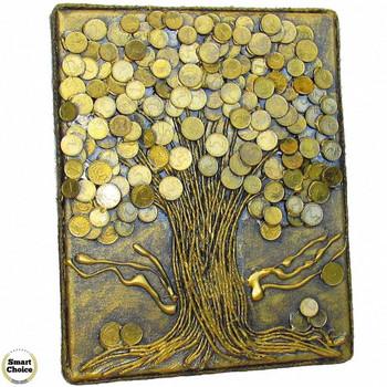 Сувенир - Пано декорация за стена \'Дървото на парите\' - 30 см. Модел DM-9027