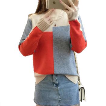 Дамски мек пуловер в пет цвята