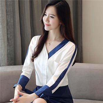 Силна дамска риза с панделки