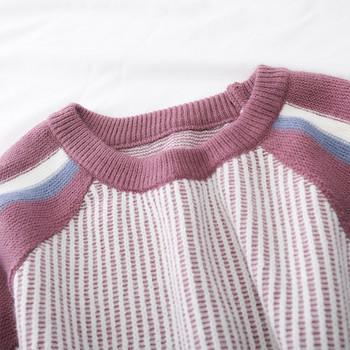 295b5c427544 Μοντέρνο γυναικείο πλεκτό σετ - φούστα και πουλόβερ σε δύο χρώματα ...