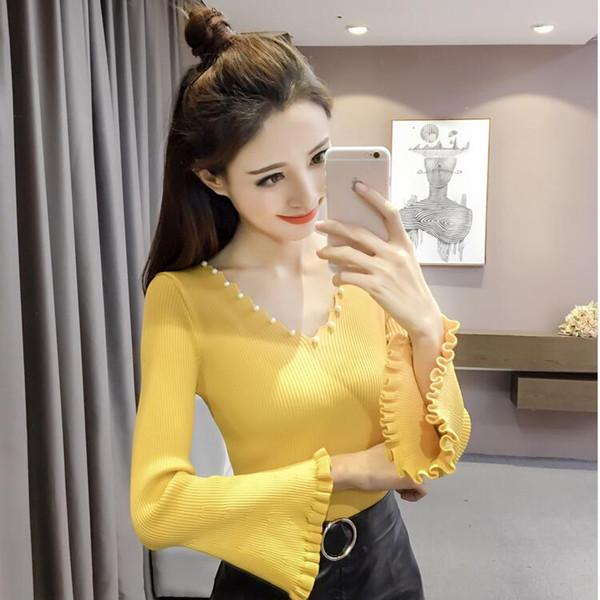c4b0f552412 Дамска стилна блуза с лотос ръкав и декорация перли - Badu.bg - Светът в ръцете  ти