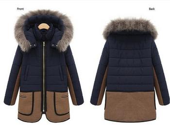 Νέο χειμωνιάτικο γυναικείο μπουφάν με κουκούλα και γούνα