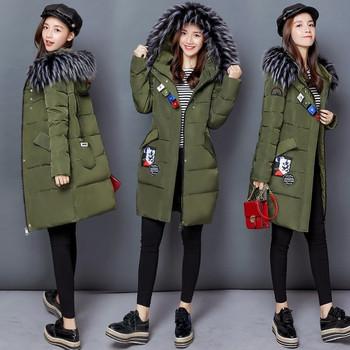 Μακρύ γυναικείο μπουφάν με τσέπες και κουκούλα σε τέσσερα χρώματα