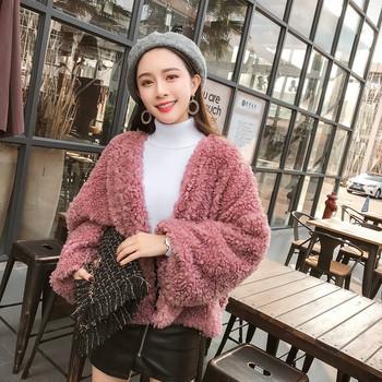 Γυναικείο μπουφάν σε λευκό και ροζ χρώμα