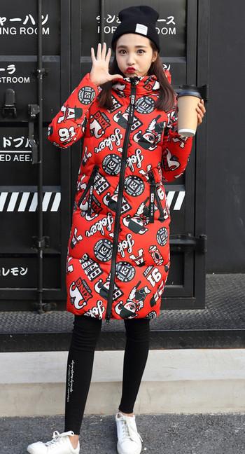 Γυναικείομπουφάν  με κουκούλα και ψηλό γιακά σε τέσσερα μοντέλα