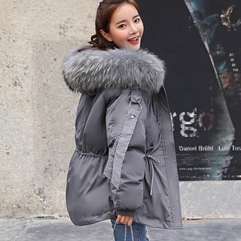 Μοντέρνο χειμερινό μπουφάν με κουκούλα και πούπουλο σε διάφορα χρώματα