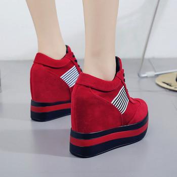 HIT Σύγχρονα γυναικεία αθλητικά παπούτσια σε υψηλή πλατφόρμα σε δύο χρώματα 5c8fa5b77f3