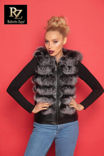 Women Leather Jacket Roberto Zago