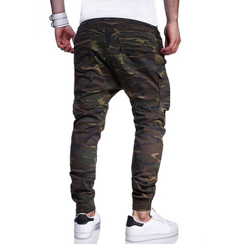 Ежедневен мъжки панталон със странични джобове и камуфлажен десен