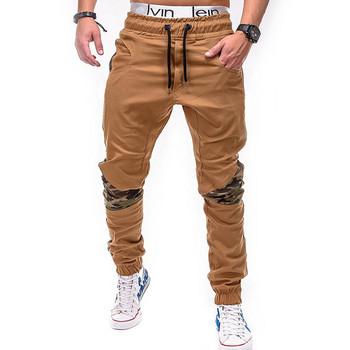 Мъжки ежедневен панталон с еластична талия и камуфлажни мотиви в няколко цвята