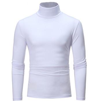 Мъжка изчистена блуза с висока яка в няколко цвята