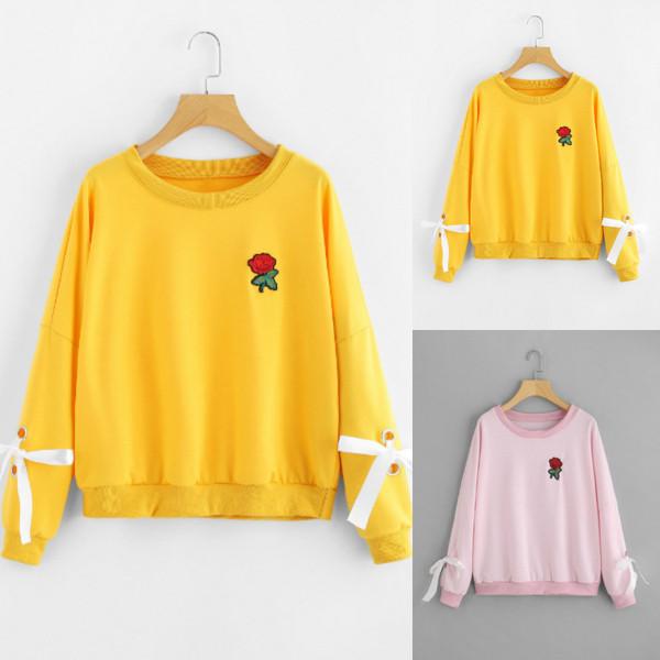 49331994a536 Γυναικείες μπλούζες αθλητισμού με έγχρωμο κέντημα και ο-λαιμό σε δύο  χρώματα - Badu.gr Ο κόσμος στα χέρια σου