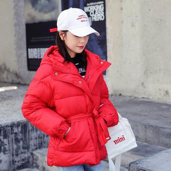 Μοντέρνο γυναικείο μπουφάν με ζώνη σε τέσσερα χρώματα