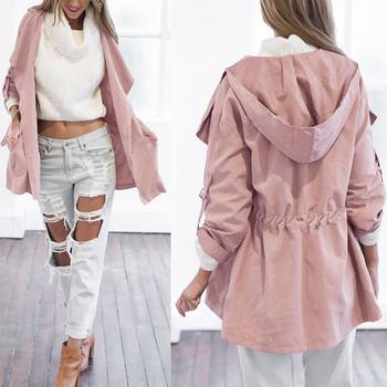 Γυναικείο μοντέρνο μπουφάν  σε ροζ χρώμα