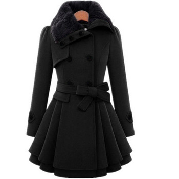 Дамско модерно палто в четири цвята