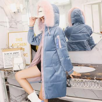Μοντέρνο γυναικείο μπουφάν με μακριά μανίκια και κουκούλα σε διάφορα χρώματα 4c4ee3063ed