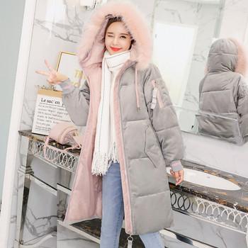 Μοντέρνο γυναικείο μπουφάν με μακριά μανίκια  και κουκούλα σε διάφορα χρώματα