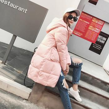 Γυναικείο μοντέρνο μπουφάν με κουκούλα σε έξι χρώματα