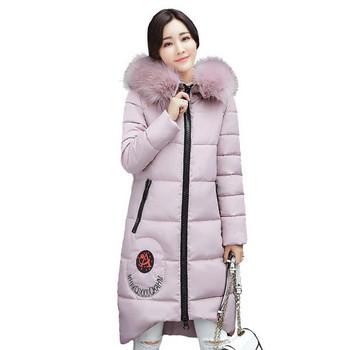 Γυναικείο μακρύ χειμωνιάτικο  μπουφάν σε έξι χρώματα