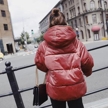 Γυναικείο κομψό μπουφάν  με κουκούλα σε πέντε χρώματα